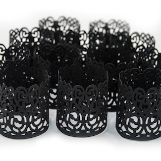 black votive wraps