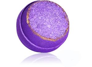 lavender geode bath bomb