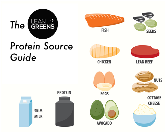 The Protein Source Guide Infographic