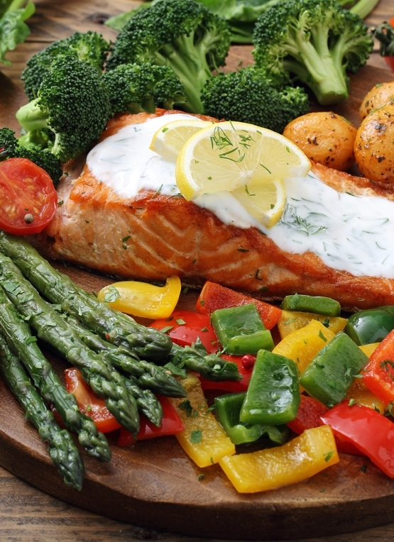 How much protein is in a salmon steak?