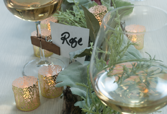 tea lights with gold wraps decor