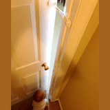 Door Buddy Review - Child proof doors with baby gate with cat door alternative