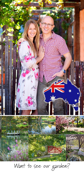 Brian and Kaylene Chapman at the home in Dural - NW Sydney Australia