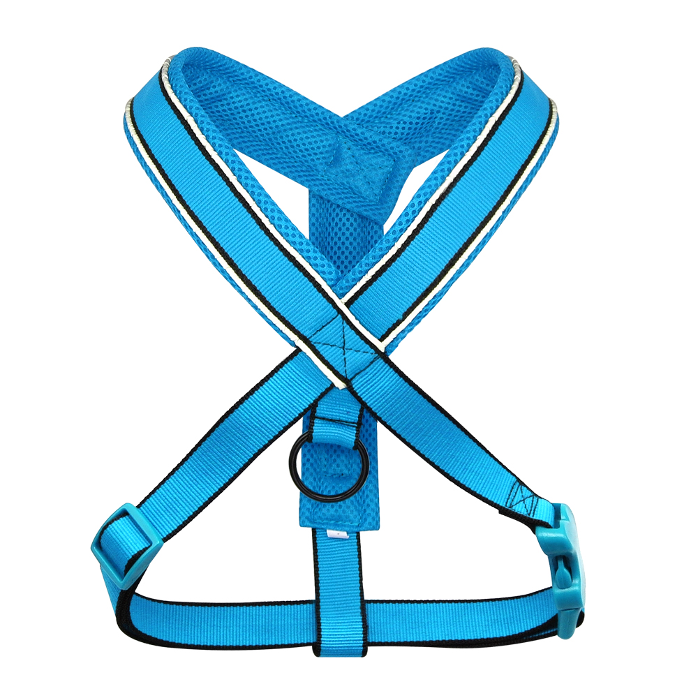 Padded X shaped secure dog harness