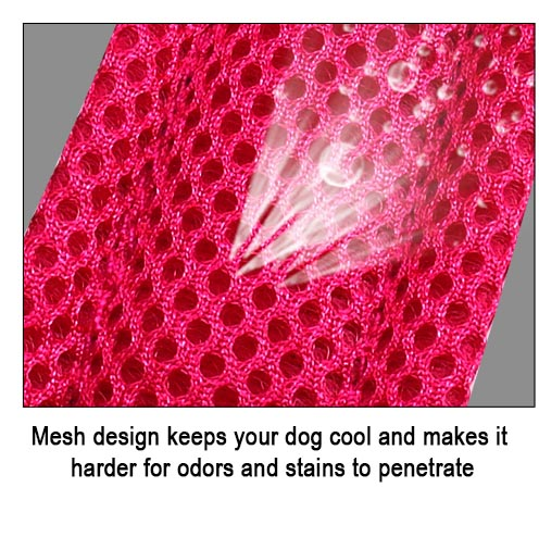 Padded dog harness mesh design helps keep your pet cool