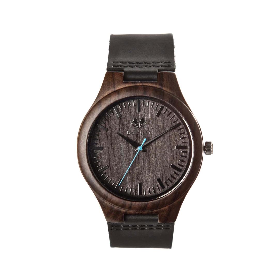 Simple black wooden watch | standard black watch with black belts