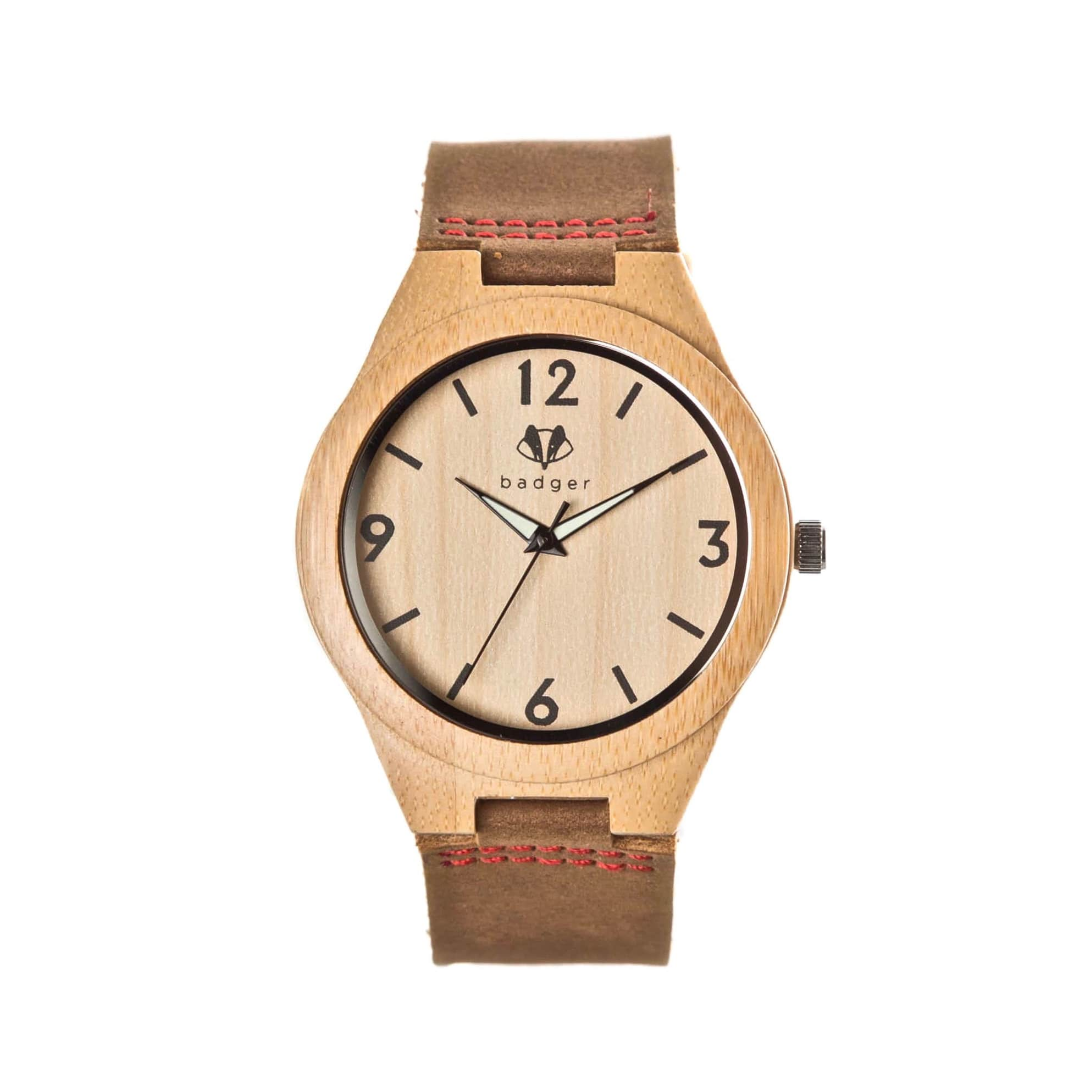 Decent sandalwood watch with brown belts | simple watches for men