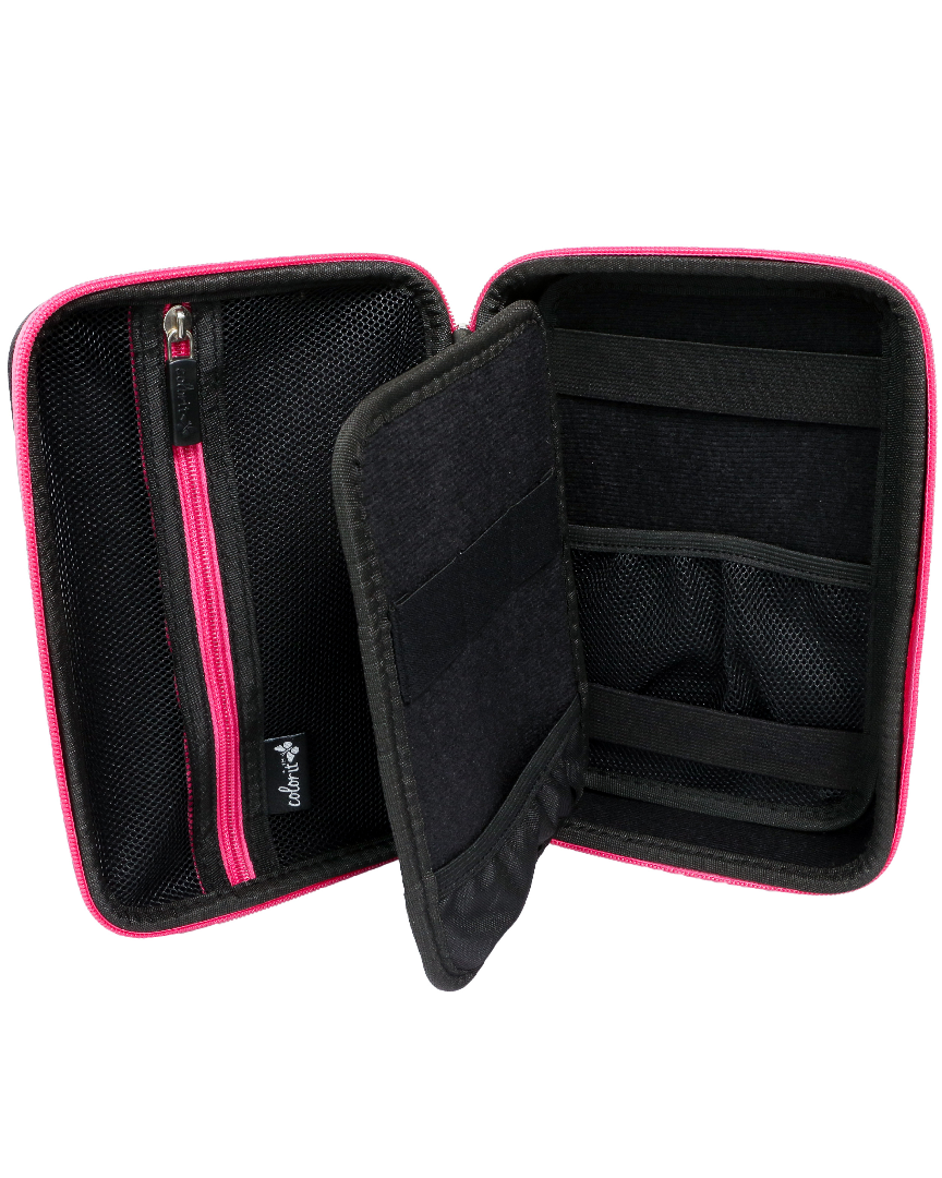 EVA Carrying Case for Multipurpose Pencils, Pens, or Markers- Pink