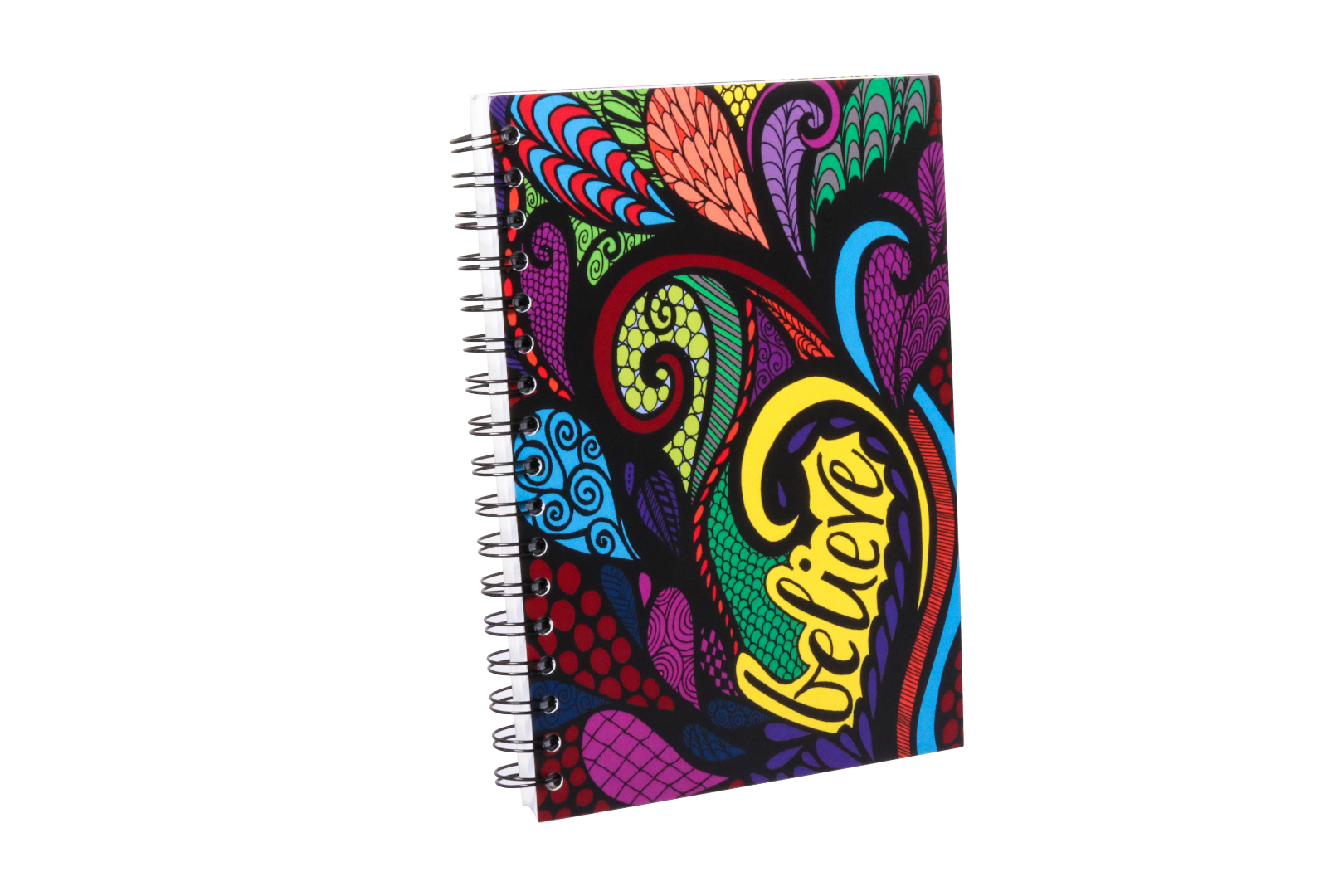 """Believe"" Colored Spiral Notebook Journal 100 Lined Sheets"