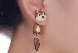 Squirrel Stud Earrings