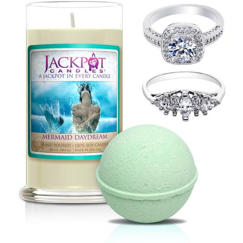 mermaid daydream candle and bath bomb set