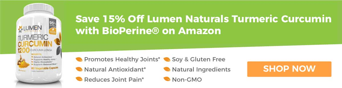 Save 15% Off Lumen Naturals Turmeric Curcumin with BioPerine on Amazon