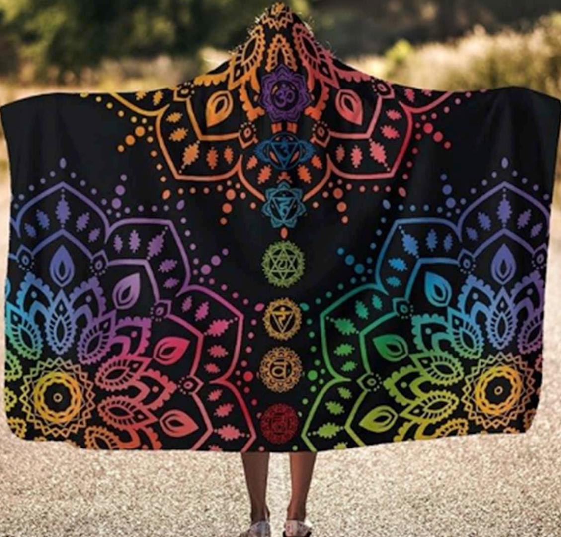 Chakra Spiritual Hooded Blanket - YesWeVibe
