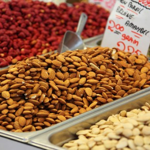 Nuts in a grocery store