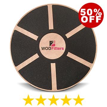 WODFitters Balance Board - Premium Wooden Wobble Board - Round Balance Trainer