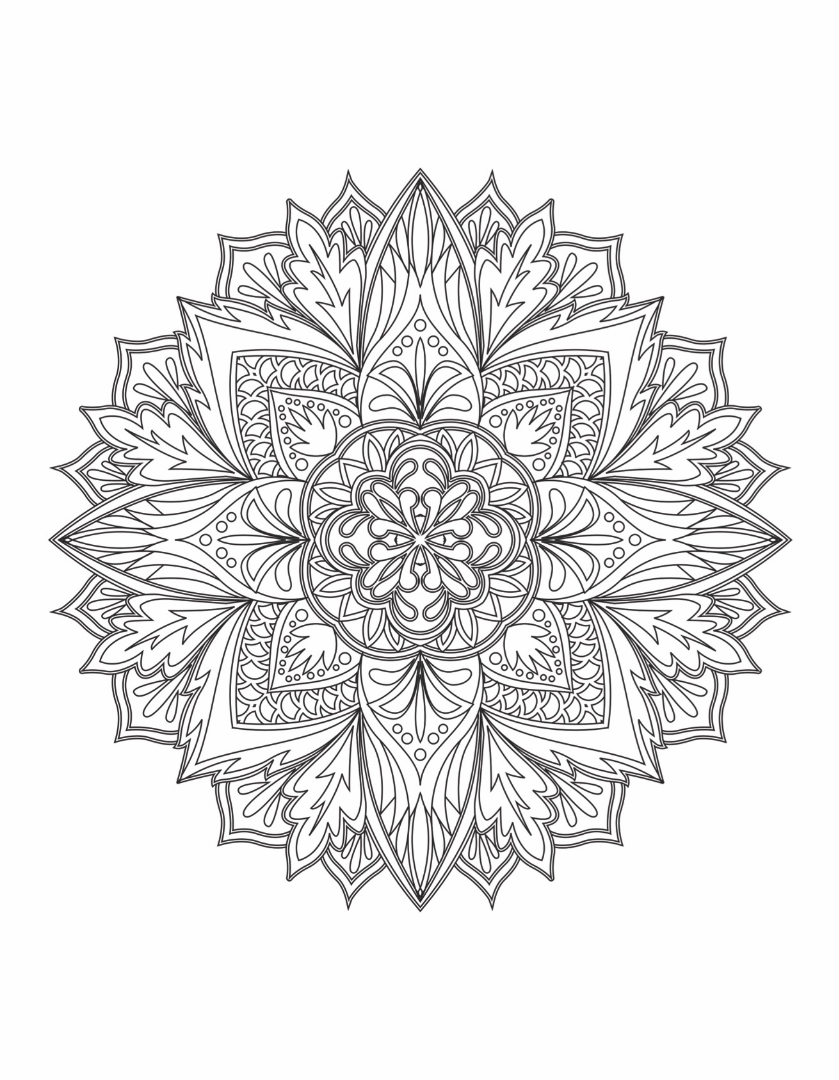 Mandalas To Color Vol 1