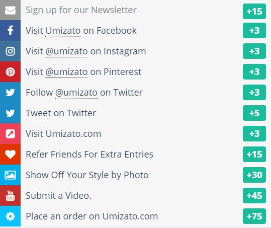 Umizato June 2018 Giveaway Main Ways to Win