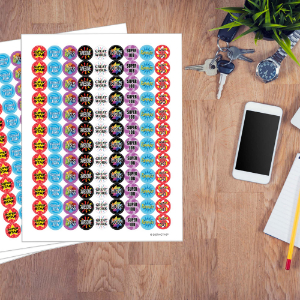Motivational Reward Stickers for Students (Set of 1,080)
