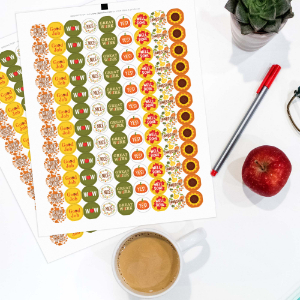 Fall Theme Motivational Reward Stickers for Students (1,080 Stickers)