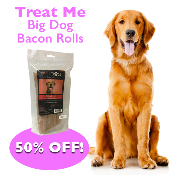 Daily Deal - Treat Me Big Dog Bacon Rolls