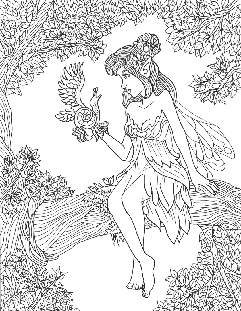 Mythical & Fantasy Coloring Page