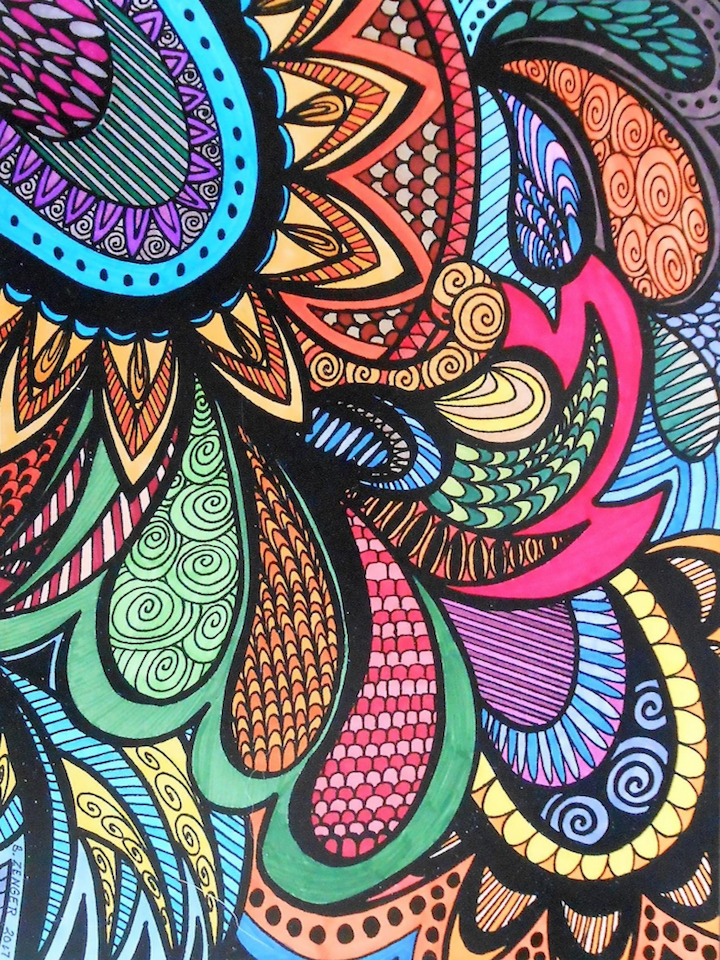 ColorIt Coloring Book Calming Doodles