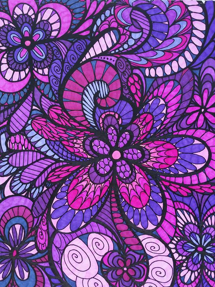 ColorIt Coloring Book Colorful Flowers
