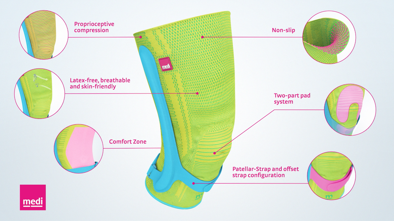 genumedi pss knee support detail graphic