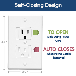 Child Proof Outlet Covers Self Closing