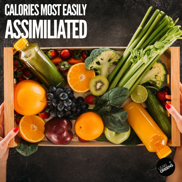 calories from vegetables more easily assimilated