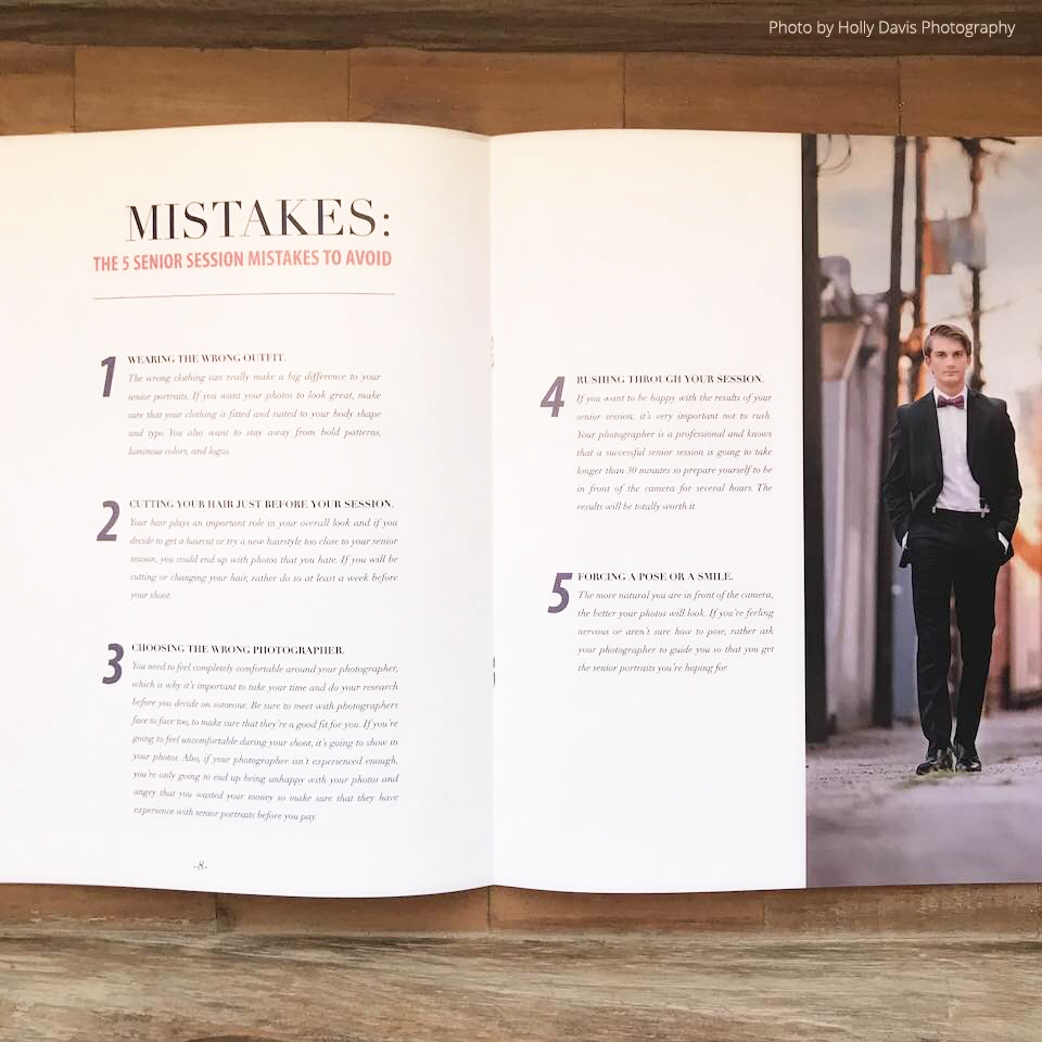 Senior Photography Magazine Welcome Guide