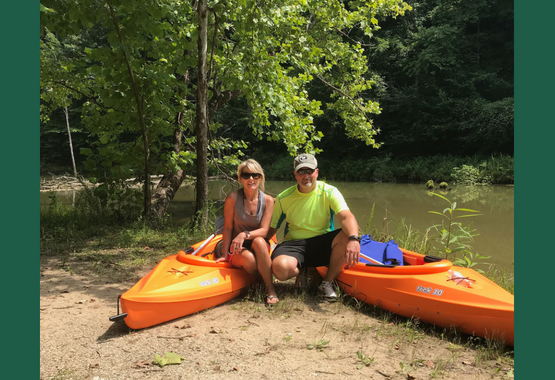 Larry & Gamble with their kayaks