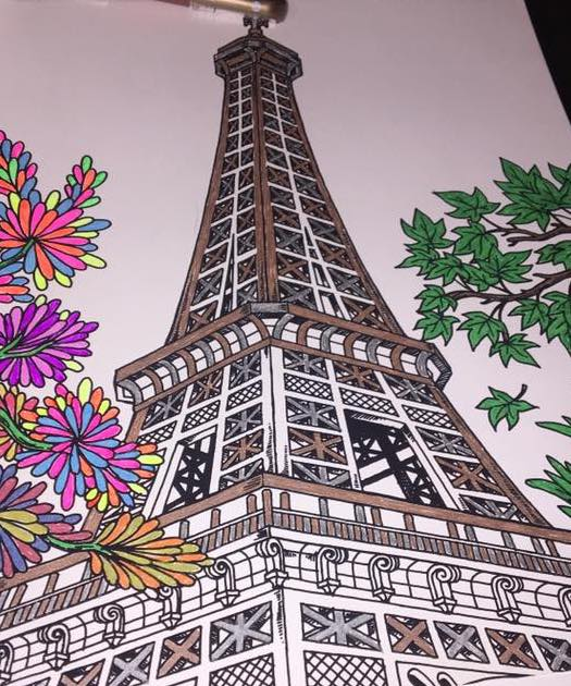 The Best of ColorIt Coloring Book Eiffel Tower