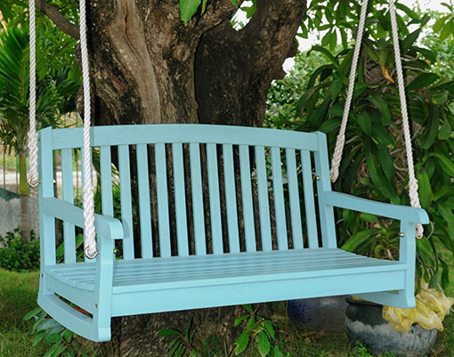 hang porch swing from a tree