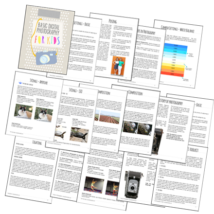 lesson pages for curriculum to teach kids photography