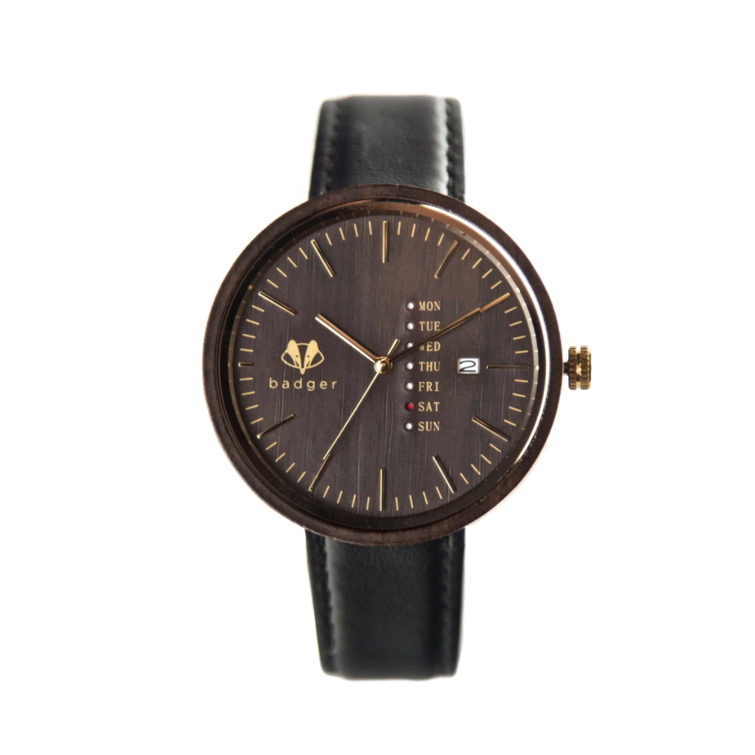 brown leather belt watch with calendar | brown leather belt watch for men