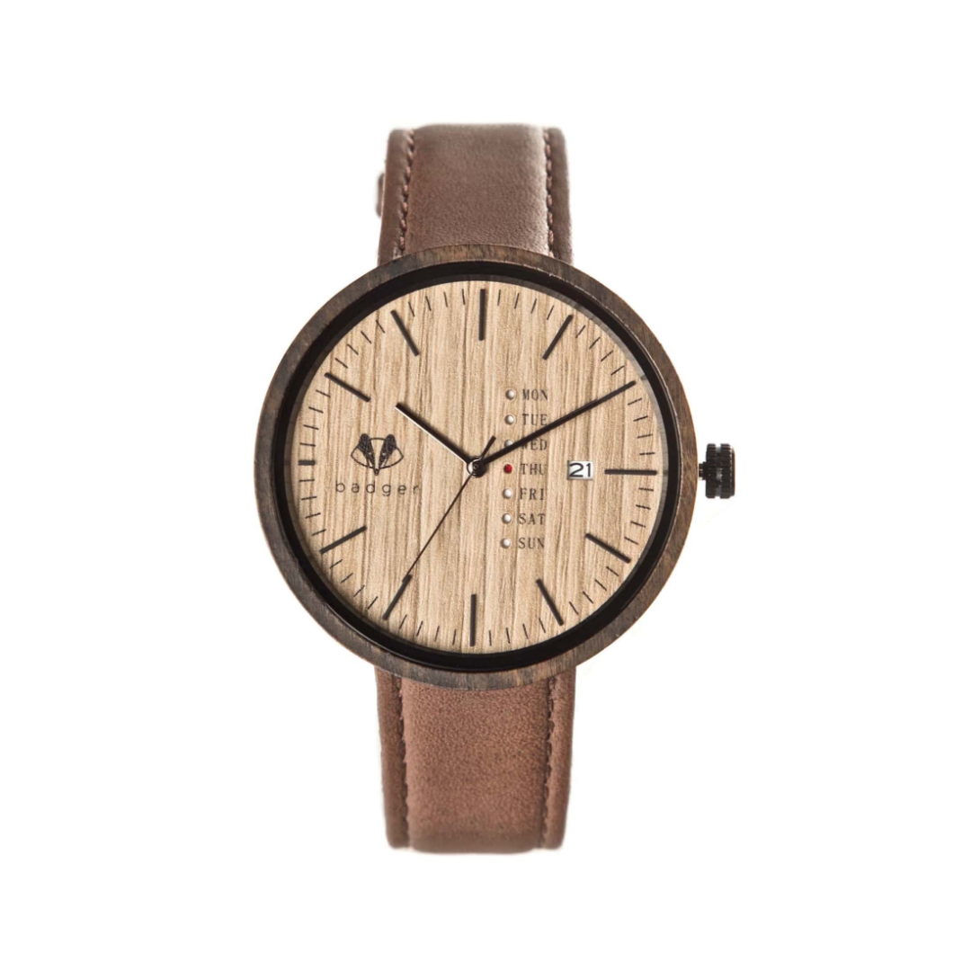 wooden dialer watch with calendar | watches with date and message