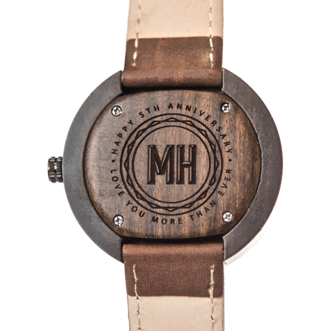 watches with a message at the back | personalized gifts for men