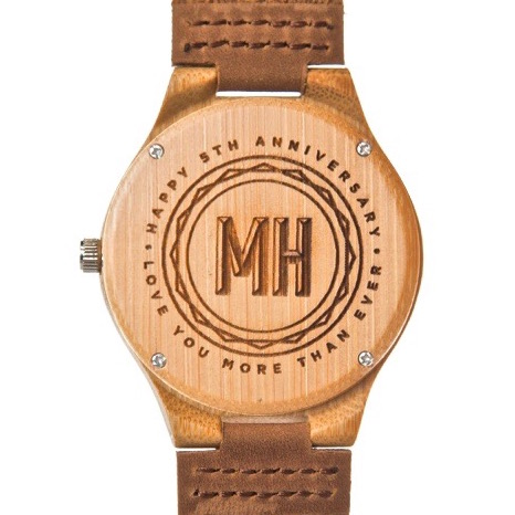personalized anniversary gifts | watches with a note at back