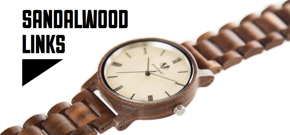 sandalwood links watch for men | wooden linked watches