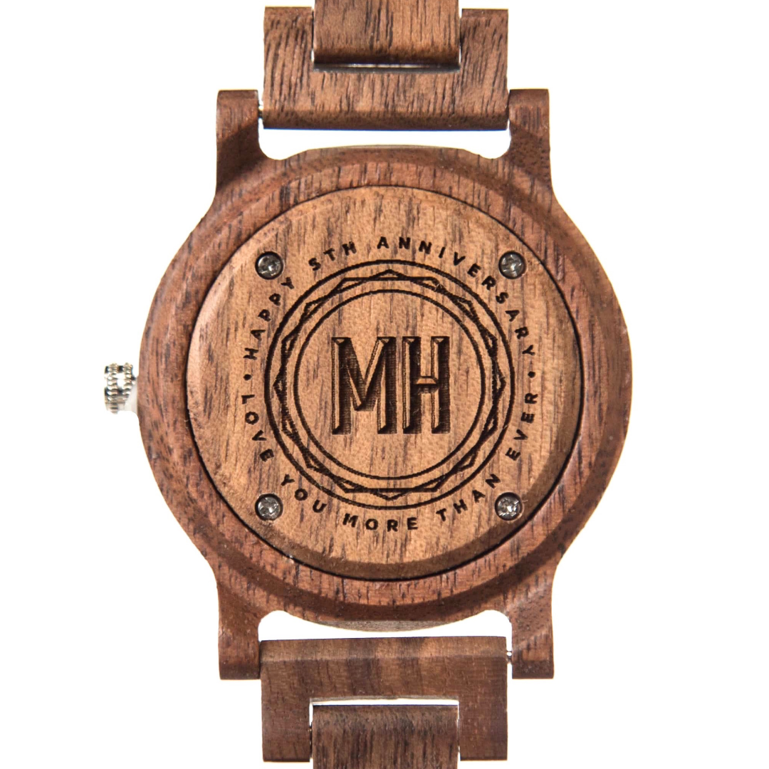 Sandalwood watches | wooden watches from swanky badger | personalized sandalwood watch | wooden watch with initials