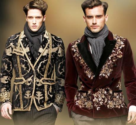 Dolce and Gabbana Baroque menswear