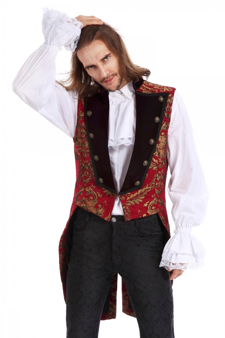 Versailles style Baroque gold red tailcoat from Gallery Serpentine