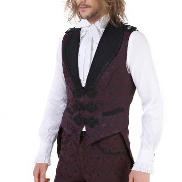 Gothic Baroque Tail Coat ideal for Australian conditions really lovely claret colour