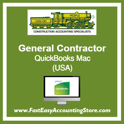 General Contractor QuickBooks Setup Desktop Template USA