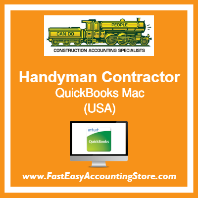 Handyman Contractor QuickBooks Setup Desktop Template USA