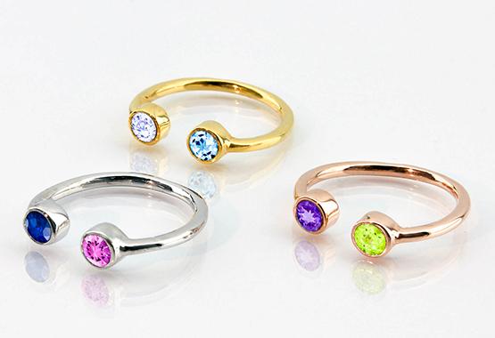 Dual Birthstone Rings