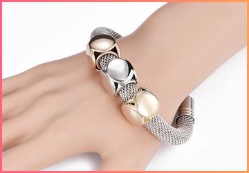 Cube Charms Metal Bracelet
