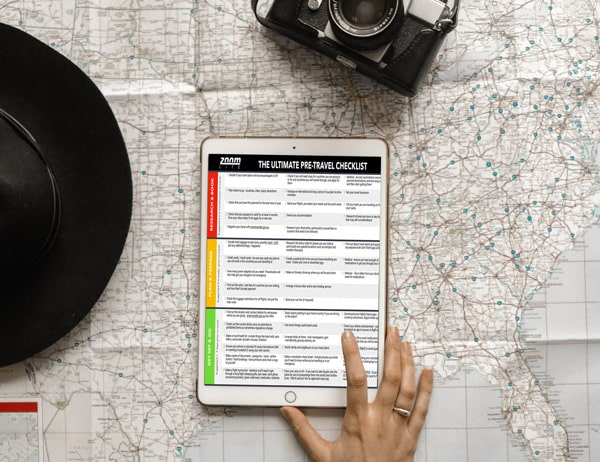 Ultimate Pre-Travel Checklist from Zoomlite