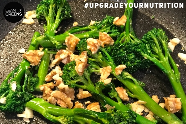stir fry broccoli with walnuts